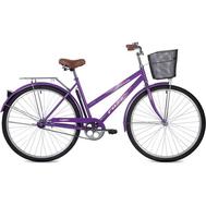 "Велосипед Foxx 28"" Fiesta 20"" фиолетовый + передняя корзина, фото 1"