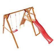 Уличная игровая площадка для детей - САМСОН МОНГОЛИЯ, горка, качели, кольца, скалодром, фото 1