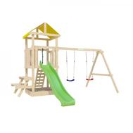 Игровая детская площадка - IGRAGRAD ПАНДА ФАНИ BABY со столиком, башня, горка, канат, качели, фото 1