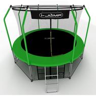 Складной каркасный батут для детей и взрослых - I-JUMP ELEGANT 16FT GREEN, защитная сетка, мат, фото 1