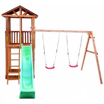 Детская площадка МОЖГА СПОРТИВНЫЙ ГОРОДОК 1 С КАЧЕЛЯМИ КРЫША ТЕНТ, фото 2