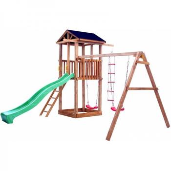 Детская площадка МОЖГА СПОРТИВНЫЙ ГОРОДОК 1 С КАЧЕЛЯМИ КРЫША ТЕНТ, фото 3